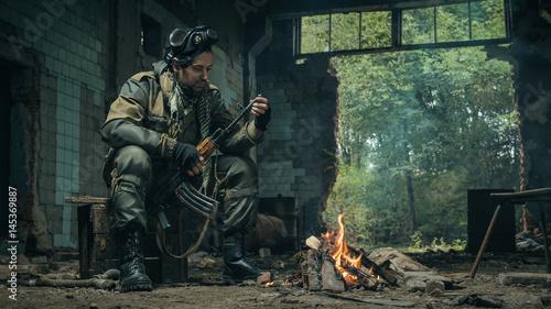 Obraz na plátně STALKER  photos of guys in uniform