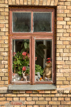 Window With Wooden Frames And ...
