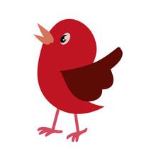 Bird Cute Cartoon Icon Vector ...