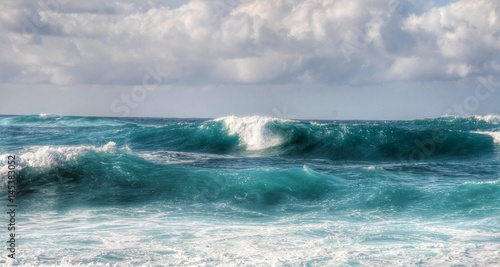 Foto auf Gartenposter Wasser Epic Waves