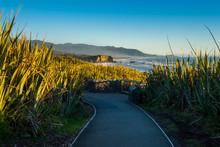Walkway At Punakaiki Pancake Rocks And Blowholes, West Coast, New Zealand