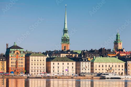 Staande foto Stockholm Gamla Stan city in central Stockholm