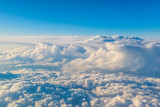 Fototapeta Na sufit - Widok z samolotu na chmury