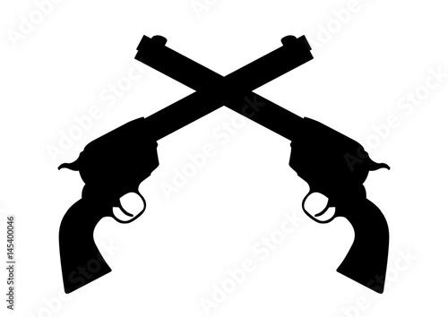 Fototapeta black revolvers
