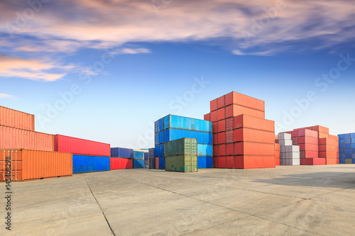 Photo Stands Port Industrial Container yard for Logistic Import Export business