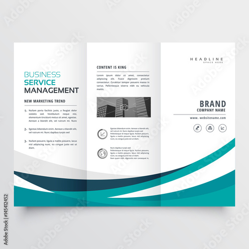 creative business trifold brochure design template Wall mural