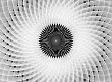 The Solar Circle. Fractal. An Image Similar To A Flower Or A Propeller. Fractal.