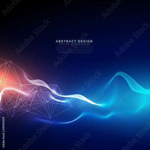 Fotografía  abstract technology background with light effect