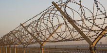 Middle East Desert Concertina Wire Fence