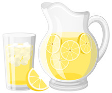 Vector Illustration Of A Glass...