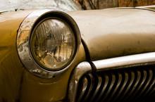Brown Retro Car