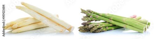 Papel de parede Weißer weisser und grüner Spargel weiss weiß grün frisch Gemüse Freisteller frei