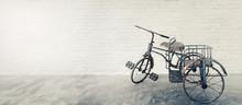 Vintage Children Tricycle Agai...