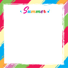 Vector Of Swatch Colorful Frame Design For Template Card Or Summer Season.