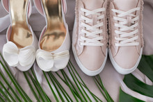Bridal Wedding Shoes And Sneakers, Accessories, Invitations And Flowers