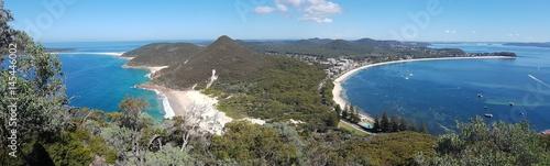 Fotografie, Obraz  Shoal Bay vue du Mont Tomaree, New South Wales, Australie