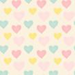 seamless abstract summer pattern background, heart pattern