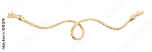 Beige cotton rope Fototapet