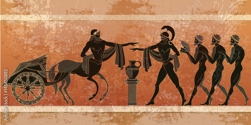 Stampa su Tela Ancient Greece scene