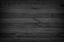 Black Background Aged Wood Texture Seamless Background, Dark Wooden Table