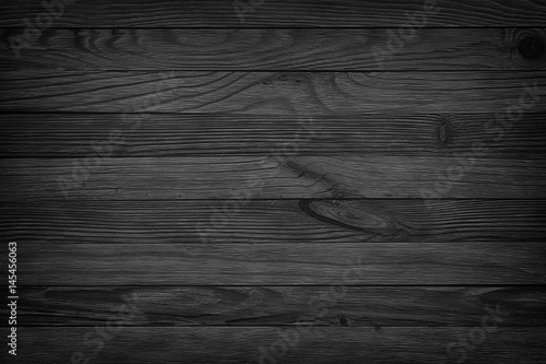 Türaufkleber Holz black background aged wood texture seamless background, dark wooden table