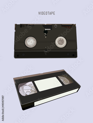 Fotografija  VHS cassette vector illustration.
