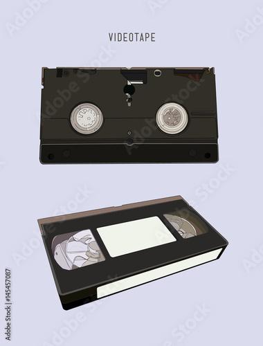 Fényképezés  VHS cassette vector illustration.