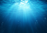 Underwater Scene With Bubbles And Sunbeams