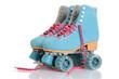 Leinwanddruck Bild - women blue quad roller skates