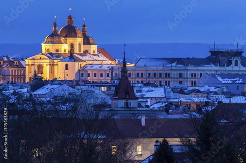 Panorama of Olomouc Canvas Print