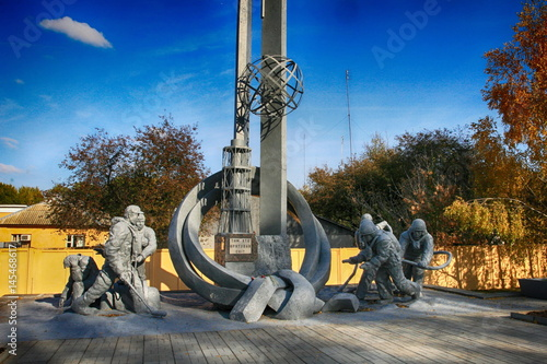 Fotografie, Obraz  Fire fighter's monument For them who saved the world in Chernobyl exclusion zone