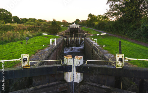 Spoed Foto op Canvas Kanaal Caen Hill locks