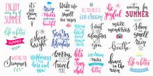 Hello Summer Lettering Typogra...
