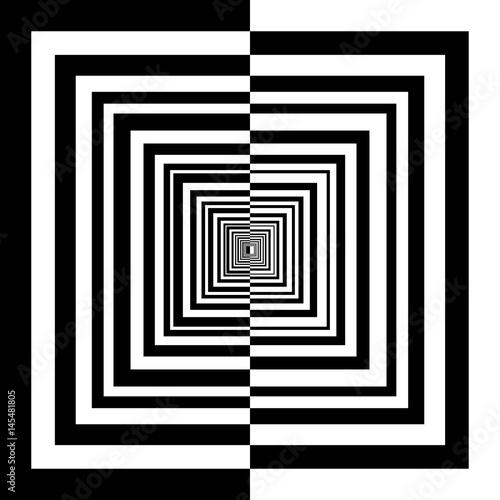 Plakat czarno-białe kwadraty
