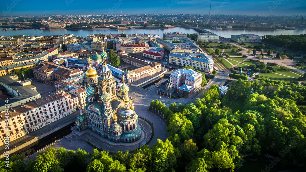 Fototapety, obrazy: Church of the Savior on Blood at St Petersburg, Russia