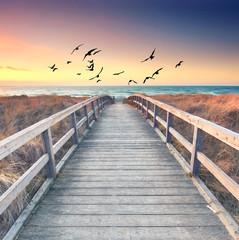 Fototapeta romantischer Sommerabend am Meer