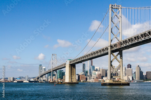 Plakat The Bay Bridge i San Francisco Skyline