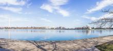 Tidal Basin With Washington Monument Reflection And Thomas Jefferson Memorial
