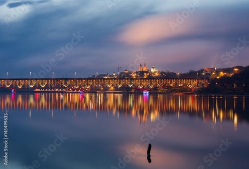 Płock - widok na most i Wzgórze Tumskie Tablou Canvas