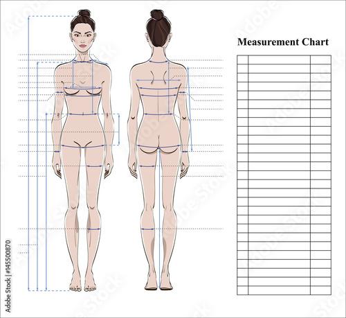 women body measurements chart