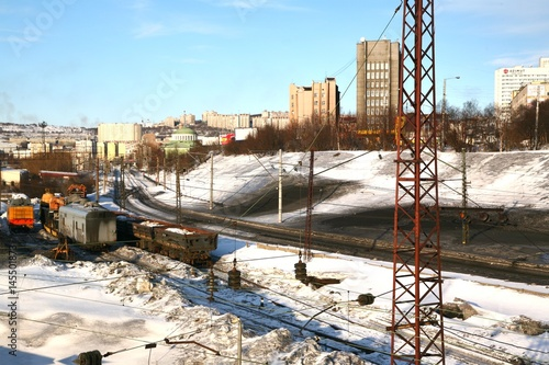 Foto op Plexiglas Stadion Murmansk Railway Station in Russia may be the northernmost railway station