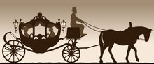 Silhouette Of A Carriage. Silh...
