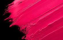 Smudged Lipstick Pink On A Bla...
