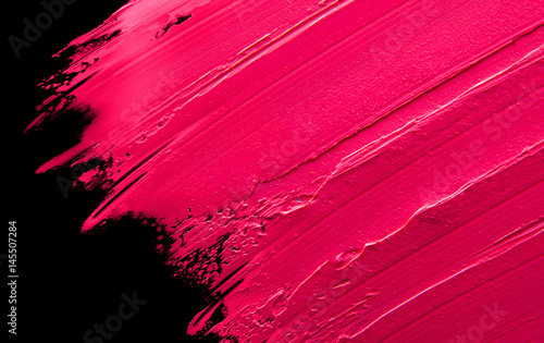 Smudged lipstick pink on a ...