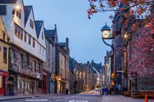 Royal Mile And Old Center Of Edinburgh In Spring