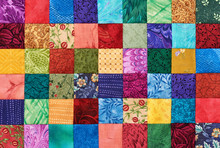 Colorful Detail Of Quilt Sewn ...