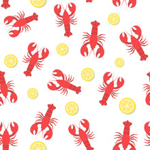 Red Lobster And Lemon Flat Sea...