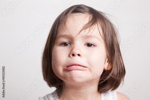 Fotografia, Obraz  Sad little girl