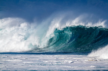 A Big Breaking Ocean Wave On T...