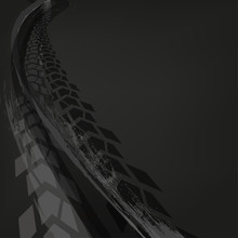 Motorcycle Tire Tracks